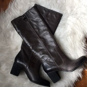 Vince Camuto Leather Chocolate brown tall boots